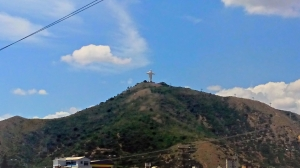 The Jesus statue here is bigger than the one in Rio,. It stands at 36 metres and a bit, one metre (and a bit) for every year Jesus lived.