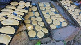 Yummy yummy, freshly made empanadas ready for the oven