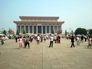 Mao Zedong's mausoleum in Tiananmen Square, Beijing.