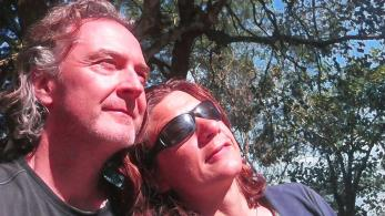 This is what we look like when we're in Brazil. Like those Soviet-era statues where starry-eyed peasants look into a bright new future. We were just glad we'd finally worked out how to take selfie.