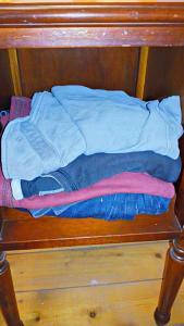 A secret stash of clothes