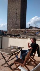Our terrace in Viterbo