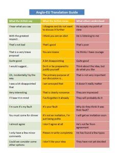 what B people say and what they mean
